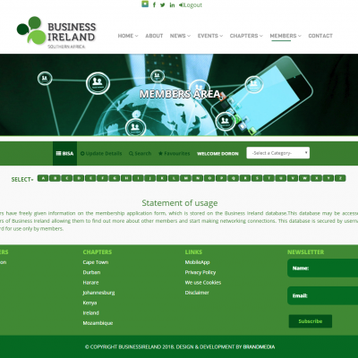 Business Ireland Members Area